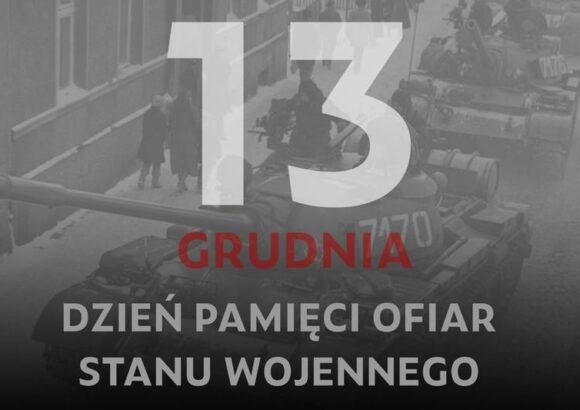 """""""13 GRUDNIA- PAMIĘTAJMY!"""" – konkurs"""