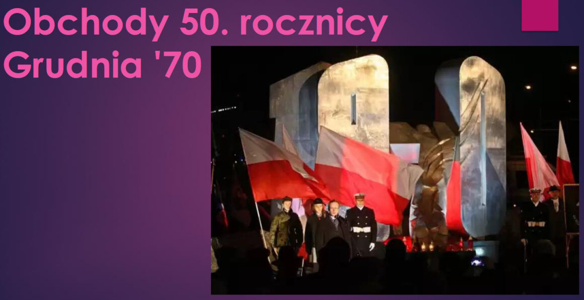 Obchody 50 rocznicy Grudnia '70