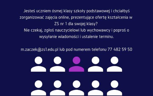 Zajęcia online z szkolnym doradcą zawodowym